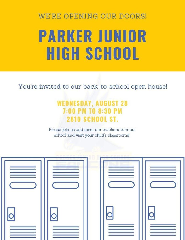 Parker Junior High School Open House