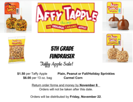 Taffy Apple Fundraiser Flyer