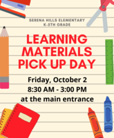 K-5 Material Pick Up Day