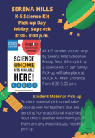 K-5 Science Kit/Student Material Pick-up