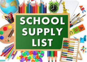 PJH 2020-21 School Supply Lists