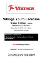 ⭐️HF Vikings Youth Lacrosse OPEN HOUSE⭐️
