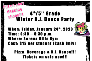 4th/5th Grade Winter DJ Dance Party
