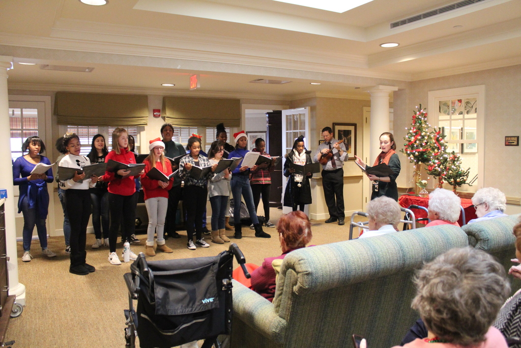 Parker carolers at Sunrise nursing home
